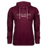 Adidas Climawarm Maroon Team Issue Hoodie-Alpha Chi Rho For Life