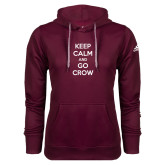 Adidas Climawarm Maroon Team Issue Hoodie-Keep Calm Go Crow