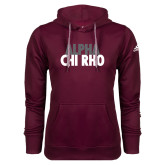 Adidas Climawarm Maroon Team Issue Hoodie-Alpha Chi Rho with shield