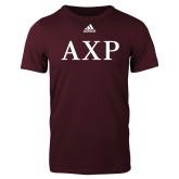 Adidas Maroon Logo T Shirt-AXP
