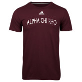 Adidas Climalite Maroon Ultimate Performance Tee-Alpha Chi Rho Arched