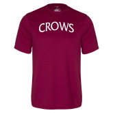 Performance Maroon Tee-Crows Arched