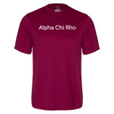 Performance Maroon Tee-Alpha Chi Rho