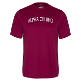 Performance Maroon Tee-Alpha Chi Rho Arched