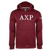 Under Armour Maroon Performance Sweats Team Hoodie-AXP