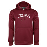 Under Armour Maroon Performance Sweats Team Hoodie-Crows Arched