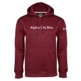 Under Armour Maroon Performance Sweats Team Hoodie-Alpha Chi Rho