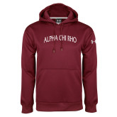 Under Armour Maroon Performance Sweats Team Hoodie-Alpha Chi Rho Arched