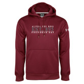 Under Armour Maroon Performance Sweats Team Hoodie-Founders Day
