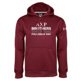 Under Armour Maroon Performance Sweats Team Hoodie-Founders Day/Brothers