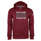 Under Armour Maroon Performance Sweats Team Hoodie-Founders Day 1895
