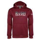 Under Armour Maroon Performance Sweats Team Hoodie-Rush Lines Alpha Chi Rho