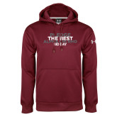 Under Armour Maroon Performance Sweats Team Hoodie-Pledge The Best