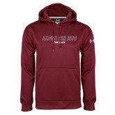 Under Armour Maroon Performance Sweats Team Hoodie-Alpha Chi Rho For Life