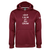 Under Armour Maroon Performance Sweats Team Hoodie-Keep Calm Go Crow