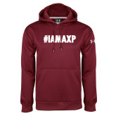 Under Armour Maroon Performance Sweats Team Hoodie-#IAMAXP