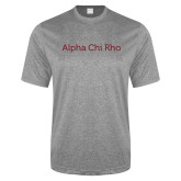 Performance Grey Heather Contender Tee-Alpha Chi Rho