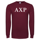 Maroon Long Sleeve T Shirt-AXP