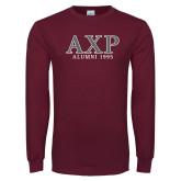 Maroon Long Sleeve T Shirt-Alumni 1995