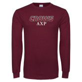 Maroon Long Sleeve T Shirt-Crows AXP