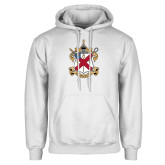 White Fleece Hoodie-Crest