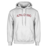 White Fleece Hoodie-Alpha Chi Rho Arched