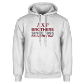 White Fleece Hoodie-Founders Day/Brothers