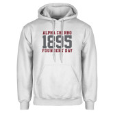 White Fleece Hoodie-Founders Day 1895