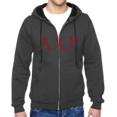 Charcoal Fleece Full Zip Hoodie-AXP