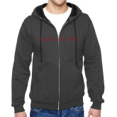 Charcoal Fleece Full Zip Hoodie-Alpha Chi Rho