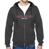 Charcoal Fleece Full Zip Hoodie-Alpha Chi Rho For Life