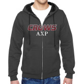 Charcoal Fleece Full Zip Hoodie-Crows AXP