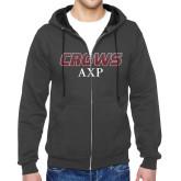 Charcoal Fleece Full Zip Hoodie-Crows AXP