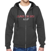 Charcoal Fleece Full Zip Hoodie-Alpha Chi Rho AXP