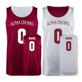 Maroon/White Reversible Tank-Personalized