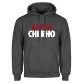 Charcoal Fleece Hoodie-Alpha Chi Rho with shield