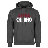Charcoal Fleece Hoodie-Alpha Chi Rho with shield