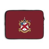 13 inch Neoprene Laptop Sleeve-Crest