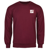 Maroon Fleece Crew-Flag