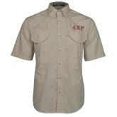 Khaki Short Sleeve Performance Fishing Shirt-AXP