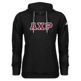 Adidas Climawarm Black Team Issue Hoodie-Greek Letters in Tackle Twill