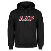 Black Fleece Hoodie-Greek Letters in Tackle Twill