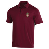 Under Armour Maroon Performance Polo-Crest