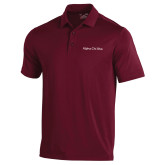 Under Armour Maroon Performance Polo-Alpha Chi Rho
