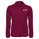 Fleece Full Zip Maroon Jacket-AXP