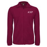 Fleece Full Zip Maroon Jacket-AXP