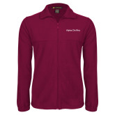 Fleece Full Zip Maroon Jacket-Alpha Chi Rho