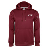 Under Armour Maroon Performance Sweats Team Hood-AXP