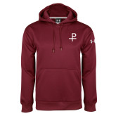 Under Armour Maroon Performance Sweats Team Hood-Labarum