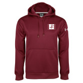 Under Armour Maroon Performance Sweats Team Hood-Flag